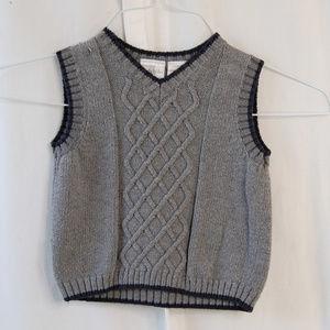 {Koala Kids} Gray Cable Knit Sweater Vest